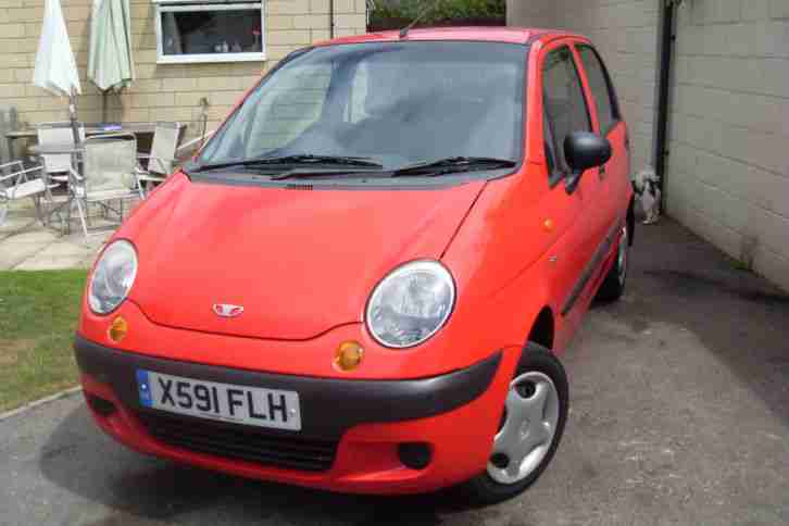 2001 DAEWOO MATIZ SE 5 DOOR RED