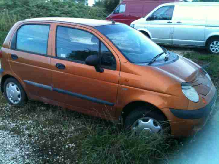 Daewoo 2001 MATIZ SE GOLD Spares or Repair. car for sale