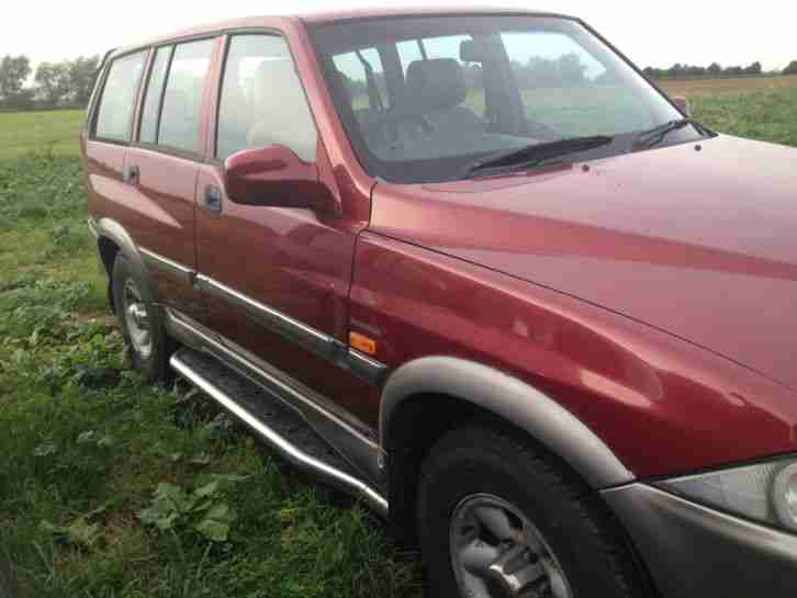Daewoo 2001 MUSSO TD RED. car for sale