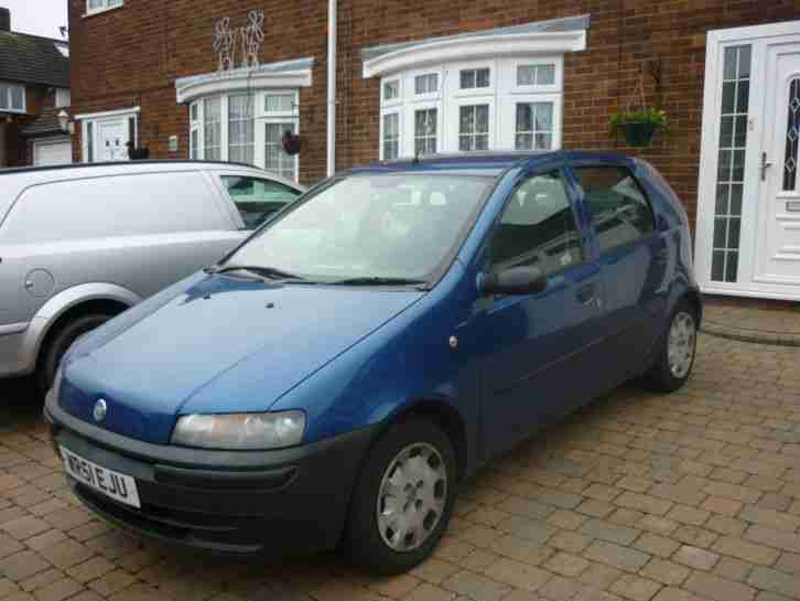 fiat 2001 punto 1 2 blue nice little car 1 day auction cheap car for sale. Black Bedroom Furniture Sets. Home Design Ideas
