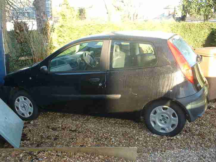 2001 FIAT PUNTO MIA BLACK Repair or Spares CH61