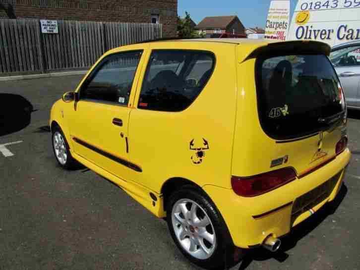 Fiat 2001 SEICENTO MICHAEL SCHUMACHER LIMITED EDITION, YELLOW. car