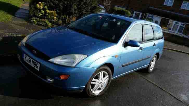 2001 FOCUS 1.8 ZETEC BLUE, YEARS MOT,