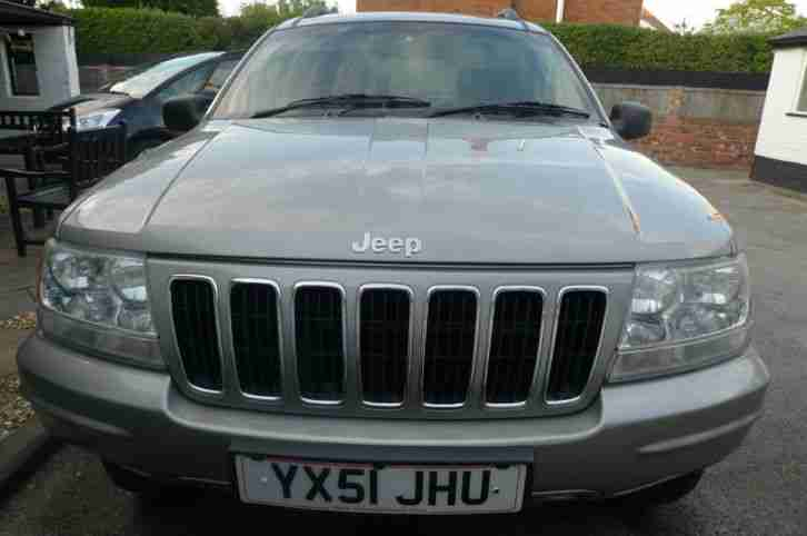 2001 GRAND JEEP CHEROKEE CRD LTD AUTO SILVER DIESEL - LADY OWNER