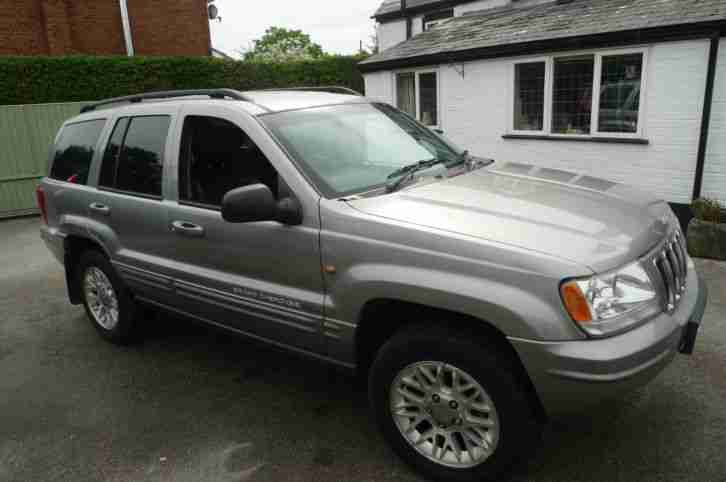 jeep 2001 grand cherokee crd ltd auto silver diesel lady owner car for sale. Black Bedroom Furniture Sets. Home Design Ideas