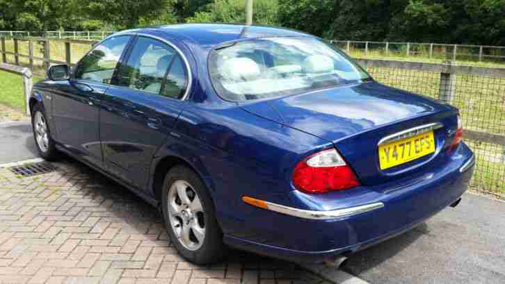2001 JAGUAR S-TYPE V6 SE AUTO BLUE (SPARES or REPAIR)