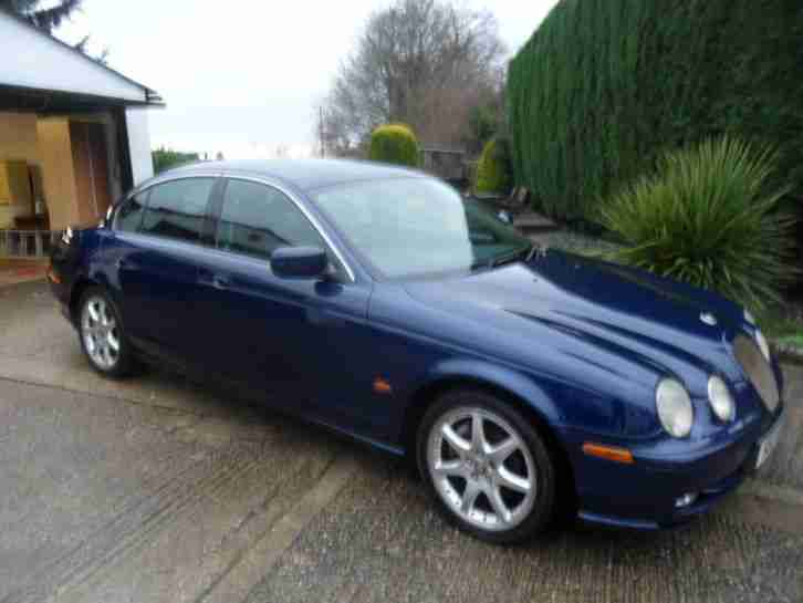 2001 JAGUAR S-TYPE V6 SPORT AUTO BLUE 119805 MILES, HAS SLIGHT GEARBOX FAULT