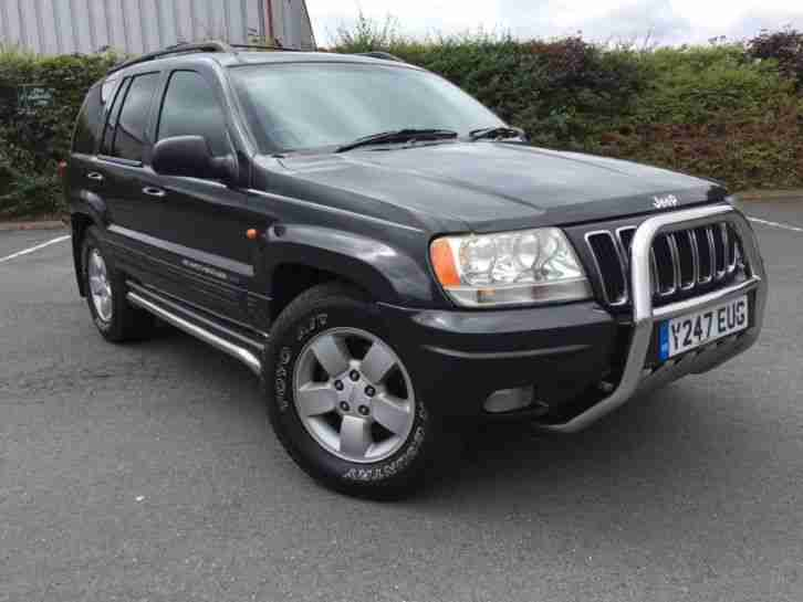 2001 JEEP GRAND CHEROKEE LIMITED 4.0 LPG MOT 06 19 AUTOMATIC BLACK LEATHER