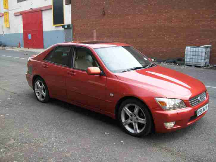 Lexus 2001 Is200 Sport Red Burnt Orange Satnav Car For Sale
