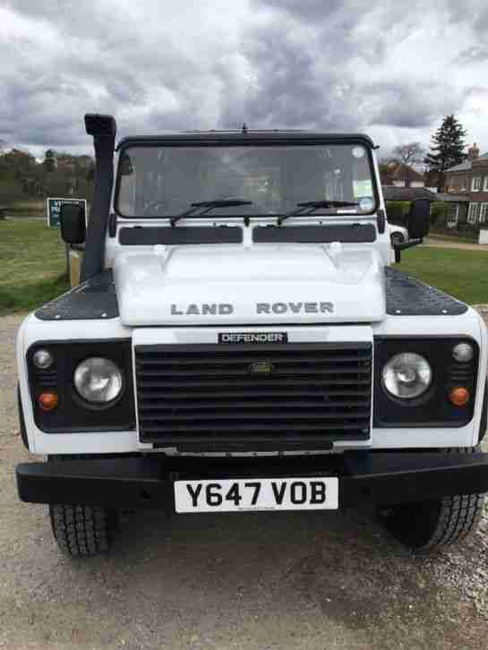 2001 land rover defender 90 white car for sale. Black Bedroom Furniture Sets. Home Design Ideas