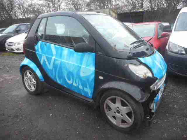 2001 MCC SMART PASSION AUTO (LHD) BLACK SALVAGE DAMAGED REPAIRABLE PETROL AUTO