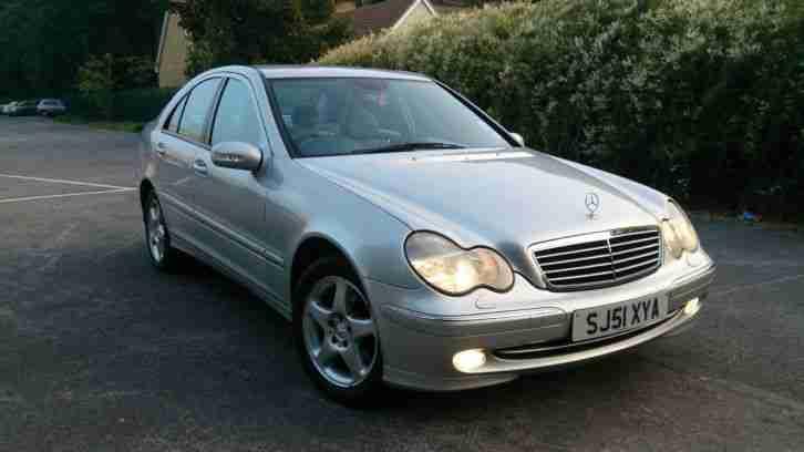 2001 Mercedes C200 Kompressor Avantgarde Silver Car For Sale
