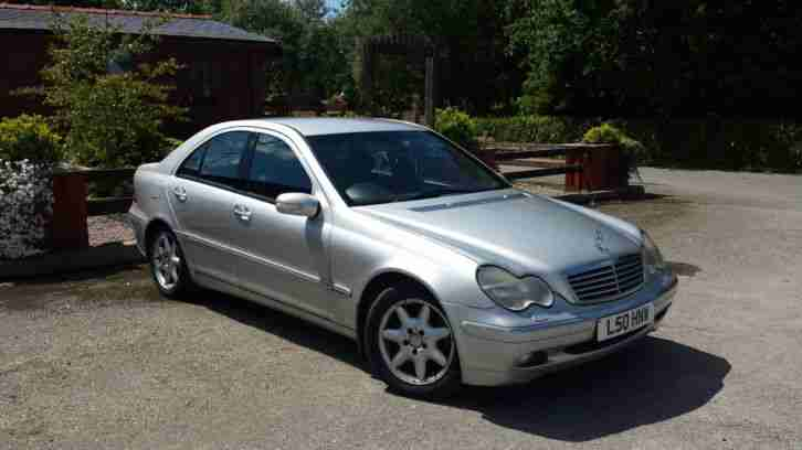 2001 mercedes c270 cdi elegance auto silver no reserve car for sale. Black Bedroom Furniture Sets. Home Design Ideas