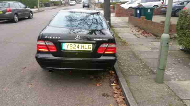 2001 MERCEDES CLK230 AVANTGARDE KOMPRESSOR BLACK LOW MILLAGE !!!