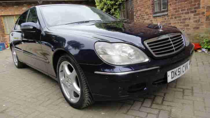 2001 mercedes s 320 limousine cdi auto 4dr saloon blue met satnav. Black Bedroom Furniture Sets. Home Design Ideas