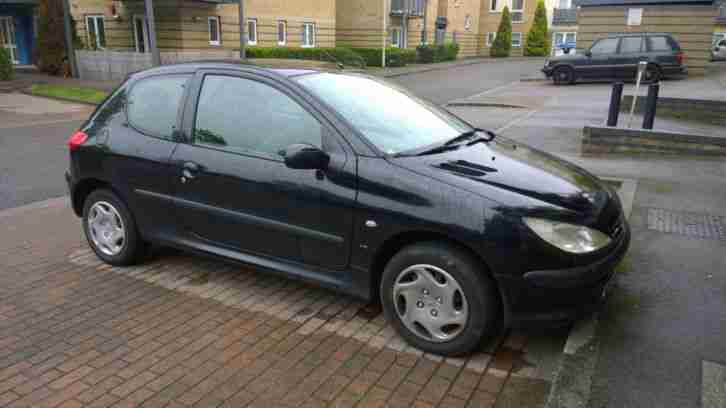 2001 PEUGEOT 206 LX BLACK MOT FAILURE LOW MILEAGE