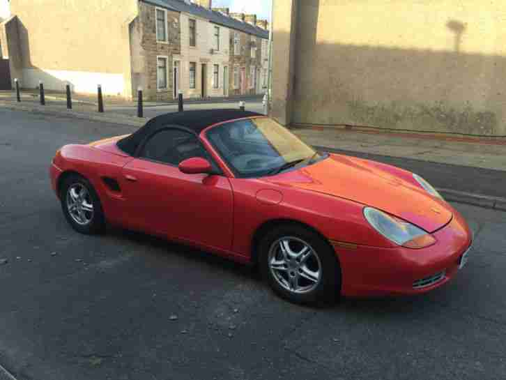 2001 PORSCHE BOXSTER RED 2.7 CONVERTIBLE HPI CLEAR !!!!CHEAPEST EVER!!!!