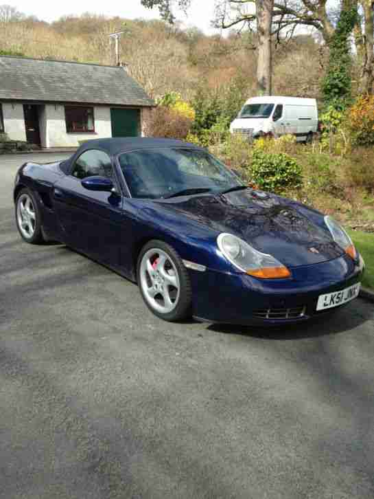 2001 PORSCHE BOXSTER S BLUE WITH A FULL HISTORY GRAB A BARGAIN!