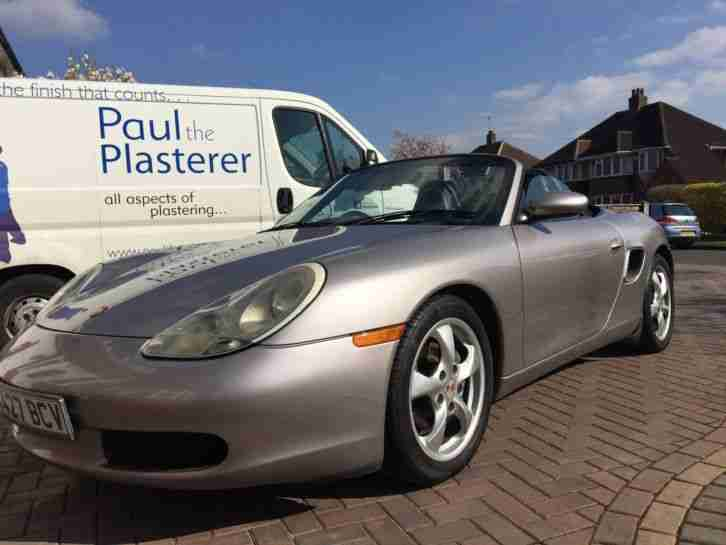 2001 PORSCHE BOXSTER SILVER 2.7 FACELIFT--3k just spent at porsche MAY PX
