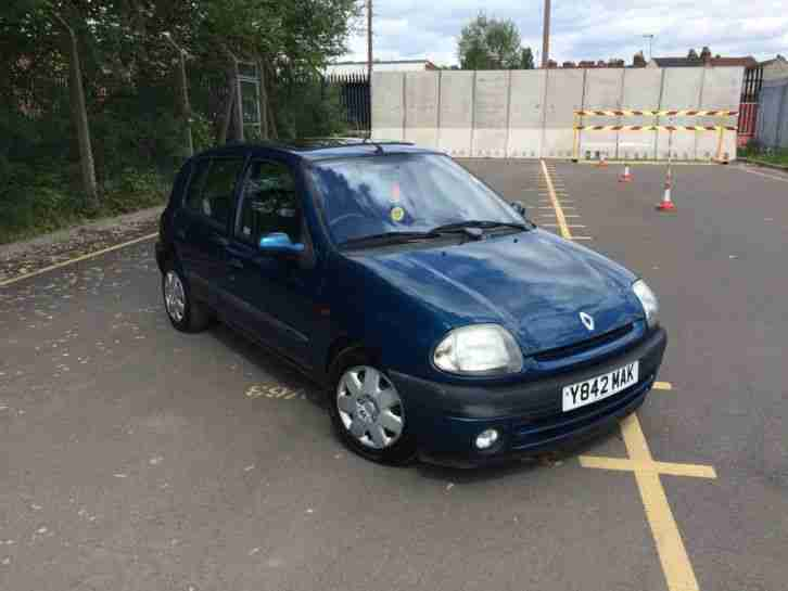 2001 renault clio alize dti 1 9 turbo diesel 5 door only 85k cheap tax. Black Bedroom Furniture Sets. Home Design Ideas