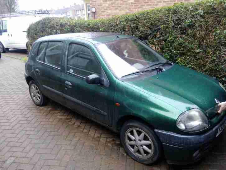 Wspaniały Renault 2001 CLIO ALIZE GREEN. car for sale TP64