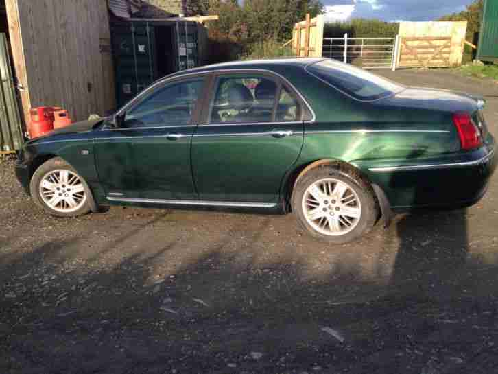 rover 2001 75 club cdt se british racing green offered as spares or