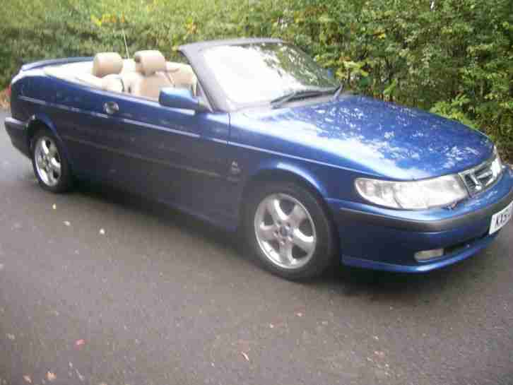2001 9 3 SE TURBO CONVERTIBLE BLUE FULL