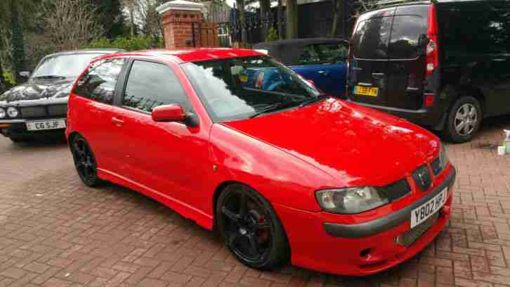 seat 2001 ibiza cupra 20vt red car for sale. Black Bedroom Furniture Sets. Home Design Ideas