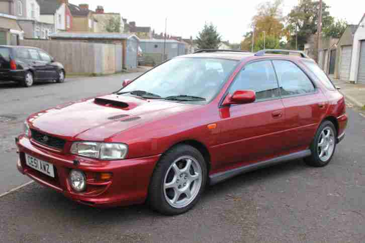 2001 SUBARU IMPREZA TURBO 2000 AWD RED 51 PLATE !!!!
