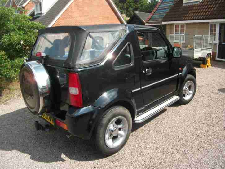 suzuki 2001 jimny jlx black soft top convertible green lane 4x4 car for sale. Black Bedroom Furniture Sets. Home Design Ideas