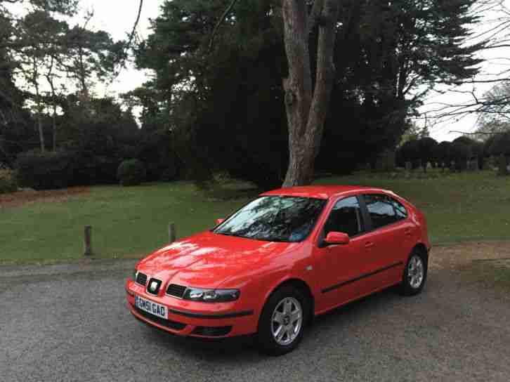 seat 2001 leon 1 8 20v se 5 door hatchback red car for sale. Black Bedroom Furniture Sets. Home Design Ideas