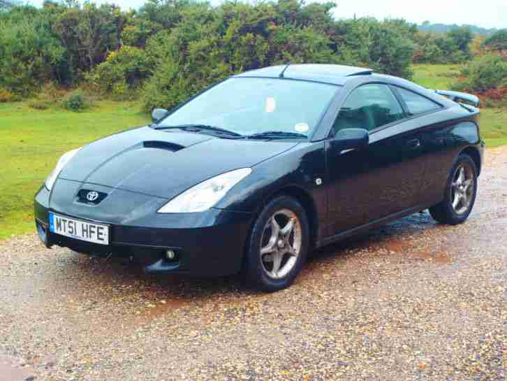 2001 TOYOTA CELICA VVTI BLACK - SOLD FOR SPARES OR REPAIRS