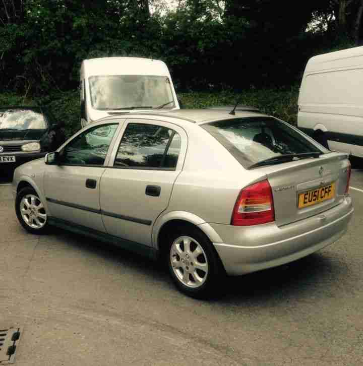 Vauxhall 2001 ASTRA CLUB 16V SILVER,MOT, 5 DOOR,1 PREVIOUS