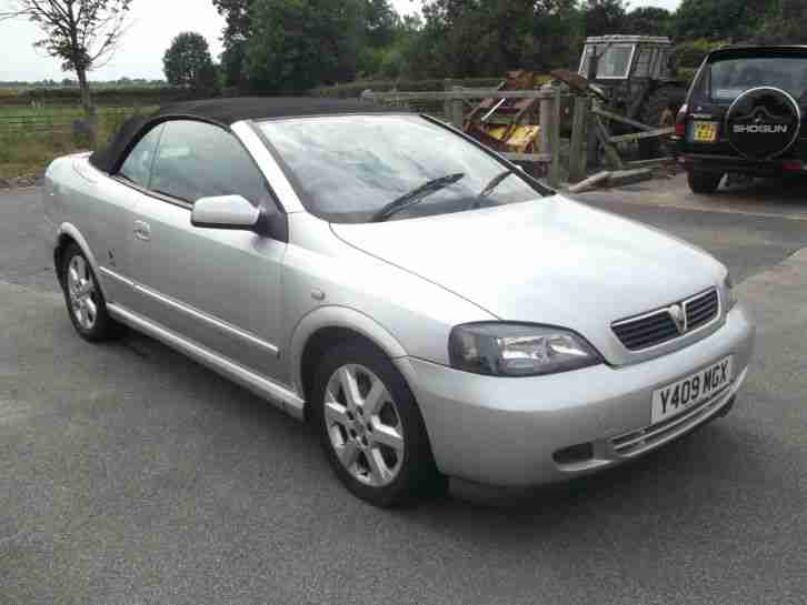Vauxhall 2001 Astra Coupe Convertible Silver 1796cc Car