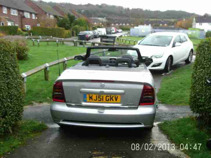 2001 VAUXHALL ASTRA COUPE CONVERTIBLE SILVER SPARES OR REPAIR