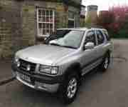 2001 VAUXHALL FRONTERA LIMITED V6 AUTO TITANIUM SILVER NO RESERVE STUNNING