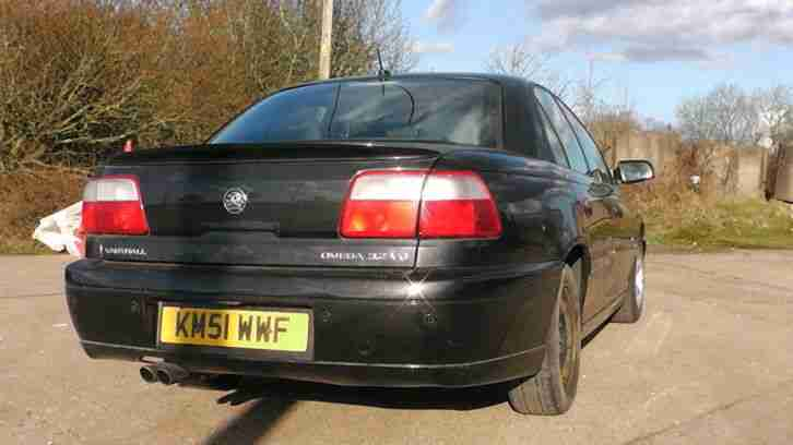 2001 Vauxhall Omega Elite V6 Auto Black Spares Repair Drift Car Car