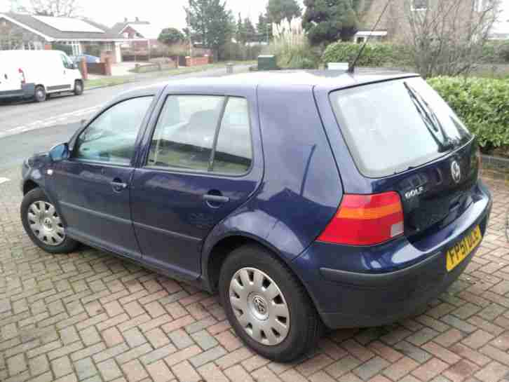 volkswagen 2001 golf tdi blue diesel 5 door car for sale. Black Bedroom Furniture Sets. Home Design Ideas