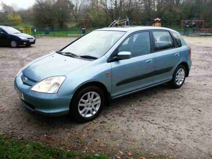 2001 (Y) HONDA CIVIC SE EXECUTIVE With 56,000 MILES ONLY, LEATHER HIGH SPEC. VGC