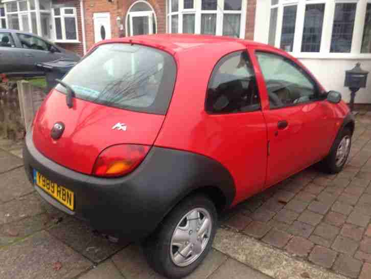 2001-Y REG FORD KA RED MOT JUNE 2015 GOOD CONDITION