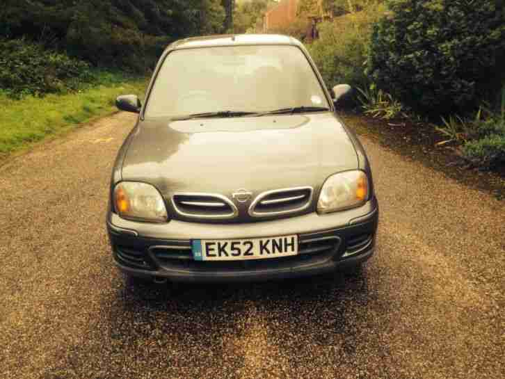 nissan 2002 52 micra 1 0 16v tempest mot and taxed car for sale. Black Bedroom Furniture Sets. Home Design Ideas
