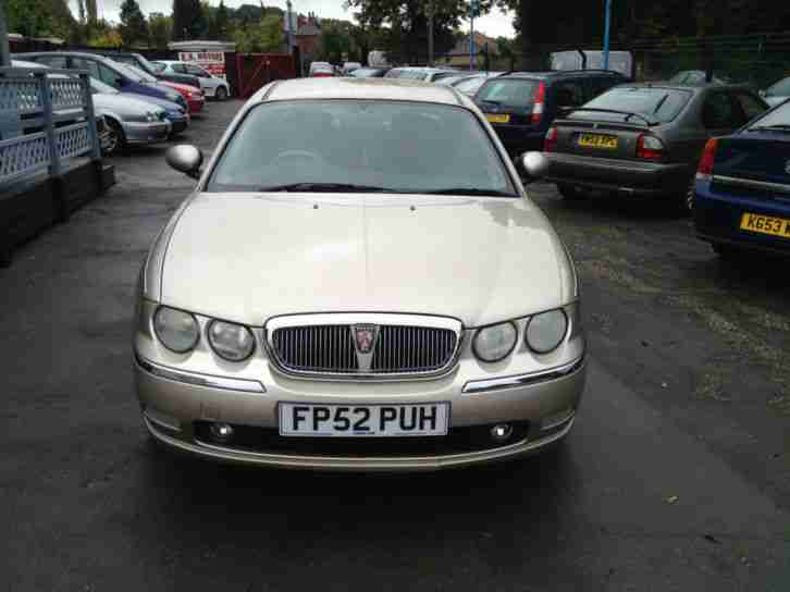 2002 52 Rover 75 2.0 CDT Club SE In Metallic Gold