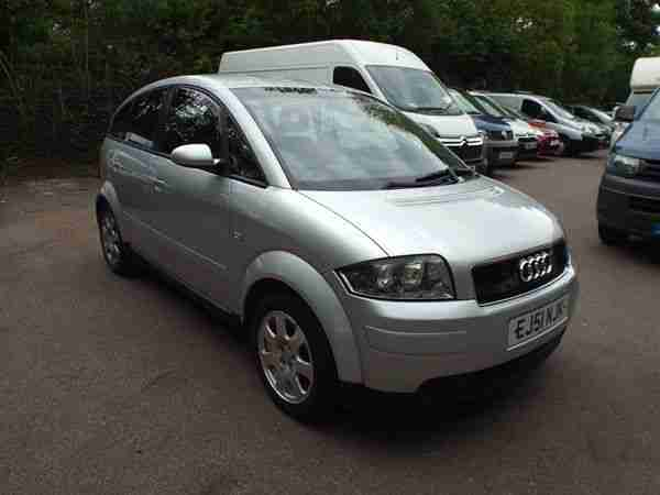 2002 Audi A2 1.4 PETROL MANUAL MY 5 DOOR SILVER