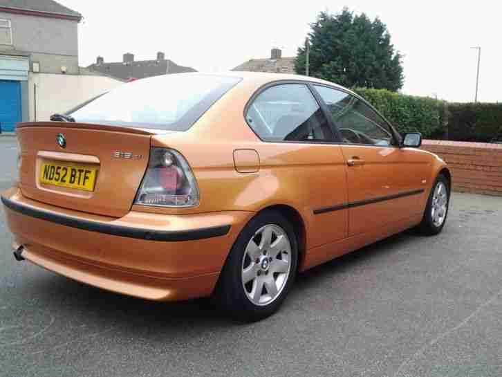 bmw 2002 316ti se compact 12month mot orange gold car for sale. Black Bedroom Furniture Sets. Home Design Ideas