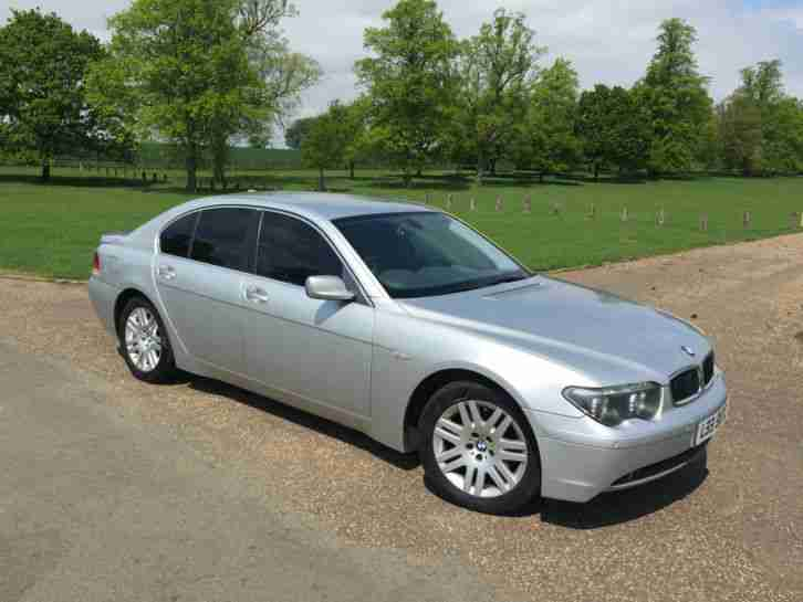 2002 BMW 745 I AUTO SILVER FULL SERVICE HISTORY 12 MONTHS MOT
