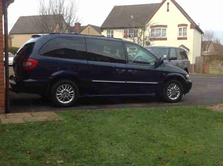 Chrysler 2002 Grand Voyager Crd Limited Blue 7 Seats  Car