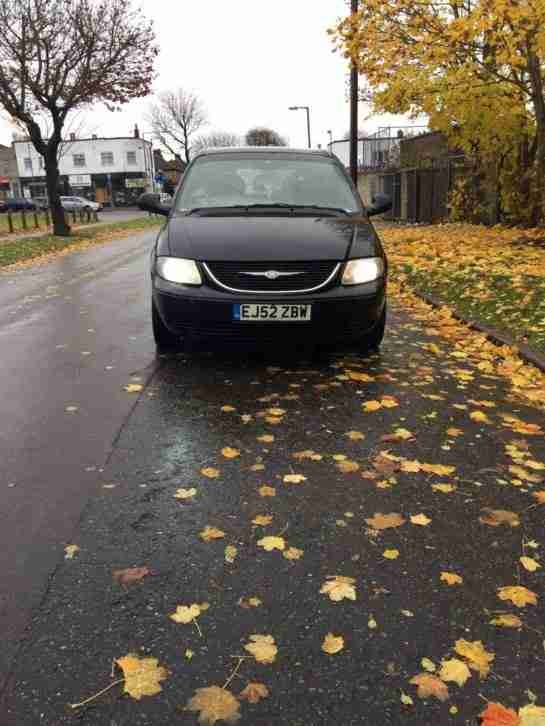 2002 CHRYSLER VOYAGER CRD SE BLACK