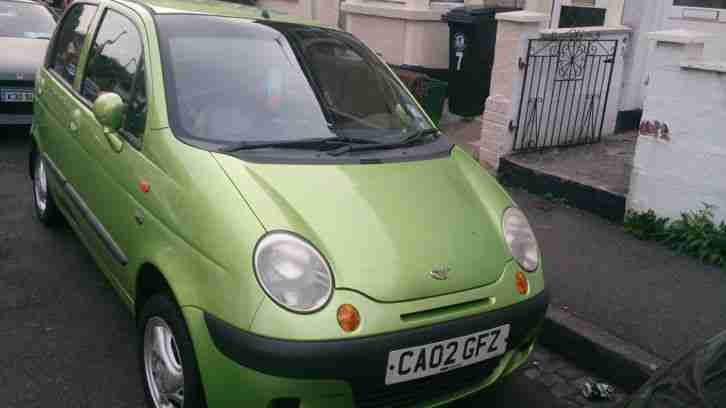 2002 DAEWOO MATIZ SE PLUS GREEN