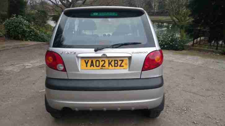 2002 DAEWOO MATIZ SE PLUS SILVER 796cc ONLY ONE OWNER FROM NEW WITH F/S/H