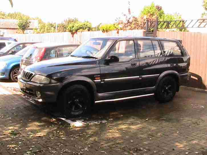 Daewoo 2002 MUSSO TD BLACK. car for sale